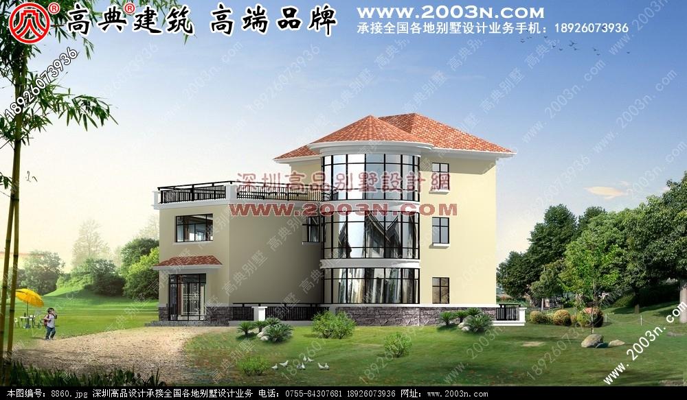 间两层小别墅|三间两层平房设计图|两层小别墅设计图